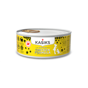 Kasiks Grain, Gluten & Potato Free, Cage Free Chicken Formula Canned Food for Cats (156g)