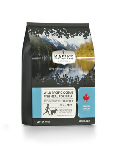 Kasiks Grain, Gluten & Potato Free, Wild Pacific Ocean Fish Formula for Dogs