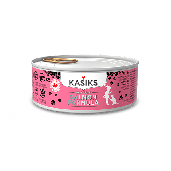 Kasiks Grain, Gluten & Potato Free, Wild Coho Salmon Formula Canned Food for Cats (156g)