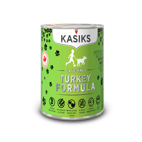 Kasiks Grain, Gluten & Potato Free, Cage Free Turkey Formula Canned Food for Dogs (345g)