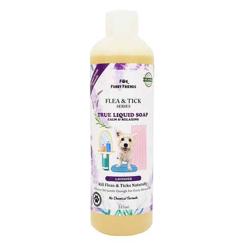 For Furry Friends Flea & Tick Series Liquid Soap - Lavender (Calming & Relaxing) 515ml