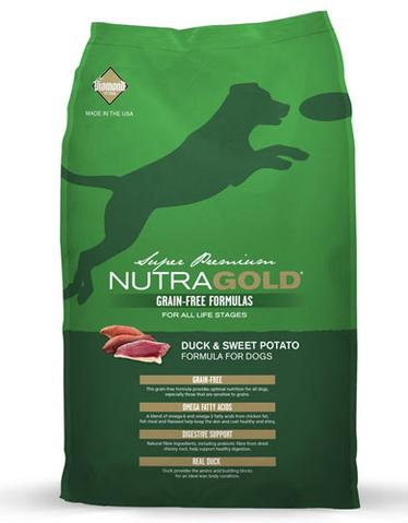 Nutragold Grain Free Duck & Sweet Potato Formula for Dogs (2.25kg/13.6kg)