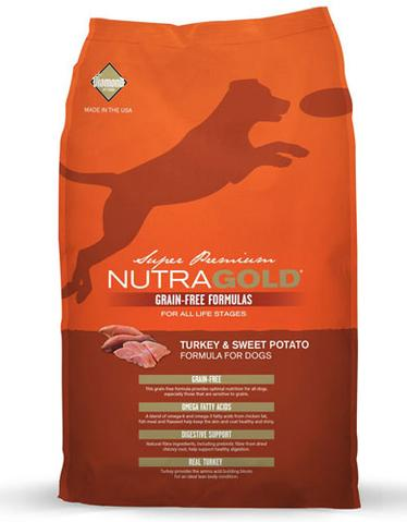 Nutragold Grain Free Turkey & Sweet Potato Formula for Dogs (2.25kg/13.6kg)