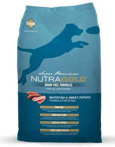 Nutragold Grain Free WhiteFish & Sweet Potato Formula for Dogs (2.25kg/13.6kg)