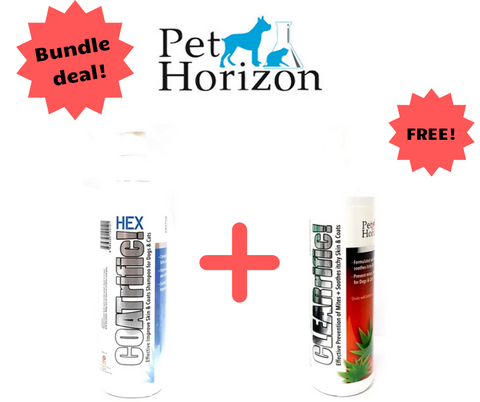 Pet Horizon COATrific! Pet Shampoo (500ml) + FREE CLEARrific (250ml) Bundle Deal!