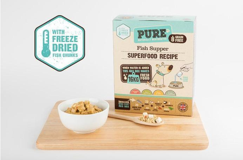 PURE Fish Supper for Puppy & Adult Dogs (500g/2kg/4kg)