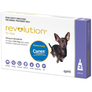 Revolution Purple For XS Dogs 2.5kg to 5kg (3 doses)