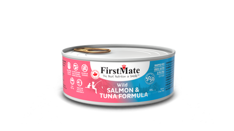 FirstMate Grain & Gluten Free, Wild Salmon & Wild Tuna 50/50 Formula for Cats (156g)