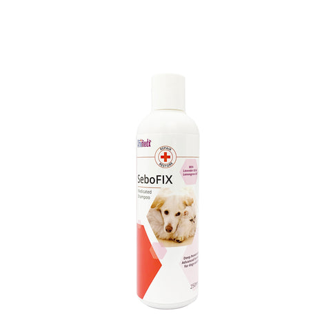SeboFIX Medicated Shampoo with Lavender Oil and Lemongrass For Dogs & Cats (250ml & 500ml)