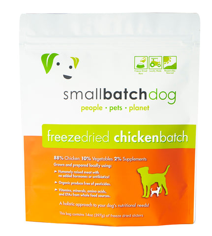 Smallbatch Freeze Dried Raw Chicken Sliders Dry Dog Food (14oz/400g)