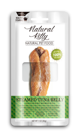 Natural Kitty Original Series - Steamed Tuna Belly (100% Naturally Sourced Tuna) 30g