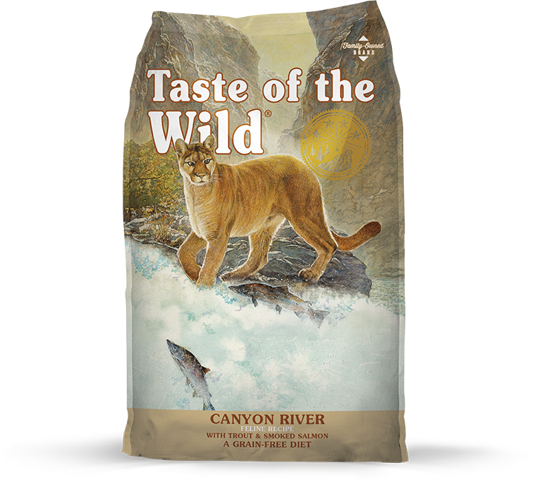 Taste Of The Wild Canyon River Trout & Salmon Dry Food for Cats (5lbs/28lbs)