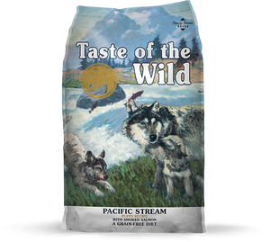 Taste Of The Wild Pacific Stream Smoked Salmon Dry Puppy Food (5lbs/28lbs)
