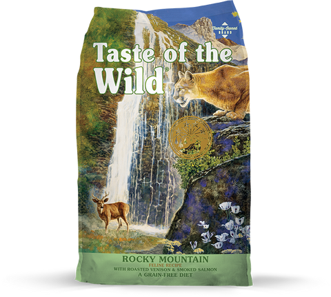 Taste Of The Wild Rocky Mountain Roasted Venison & Smoked Salmon Dry Food for Cats (5lbs/14lbs)