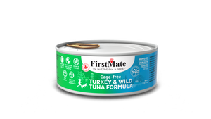 FirstMate Grain & Gluten Free, Free Run Turkey & Wild Tuna 50/50 Formula for Cats (156g)