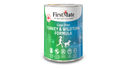 FirstMate Grain & Gluten Free, Free Run Turkey & Wild Tuna 50/50 Formula for Dogs (345g)
