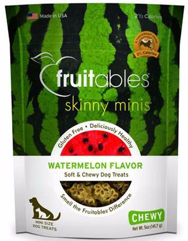 Fruitables Chewy Skinny Minis Watermelon Dog Treats