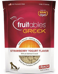 Fruitables Crunchy Greek Strawberry Yogurt Dog Treats