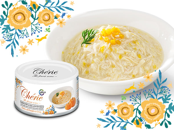 Cherie (Complete & Balanced) - Chicken with Pumpkin in Gravy - Urinary Care (80g)