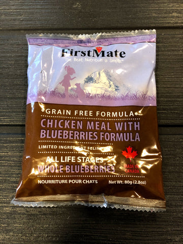 Sample - FirstMate Grain & Gluten Free, Free Run Chicken with Blueberries for Cats