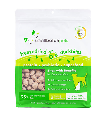 Smallbatch Freeze Dried Duck Bites Cat & Dog Treats (7oz/198g)