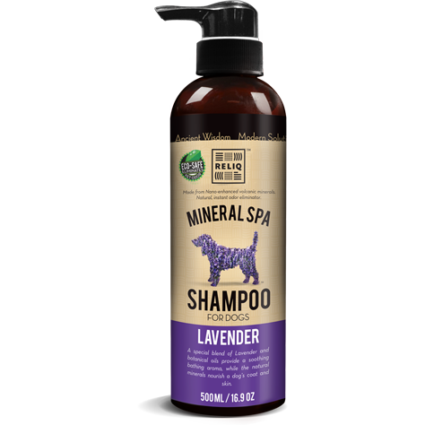 RELIQ Mineral Spa Dog Lavender Shampoo (500ml / 1 Gal)