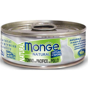 Monge Natural Yellowfin Tuna with Chicken Cat Food (80g)