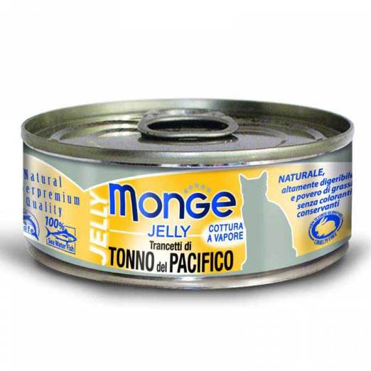 Monge Yellowfin Tuna in Jelly Cat Food (80g)