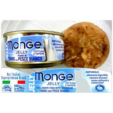 Monge Yellowfin Tuna with Sea Bream in Jelly Cat Food (80g)