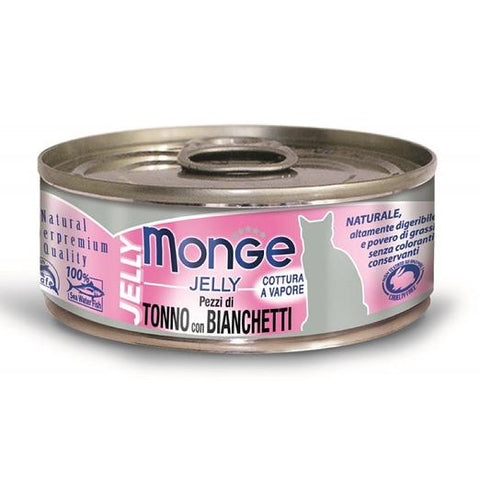Monge Yellowfin Tuna with Whitebait in Jelly Cat Food (80g)