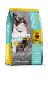 Nutram I17 Ideal Solution Support® Indoor Cat Food Chicken Meal and Whole Eggs Recipe (1.82kg)