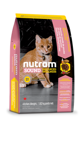 Nutram S1 Sound Balanced Wellness® Kitten Food Chicken Meal and Salmon Meal Recipe (1.82kg)
