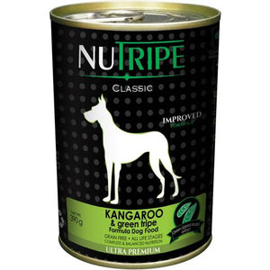 NUTRIPE Pure Kangaroo & Green Tripe Formula Dog Food (390g)