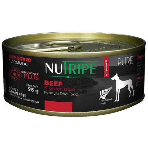 NUTRIPE Pure Beef & Green Tripe Formula Dog Food (95g)