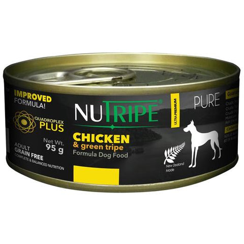 NUTRIPE Pure Chicken & Green Tripe Formula Dog Food (95g)