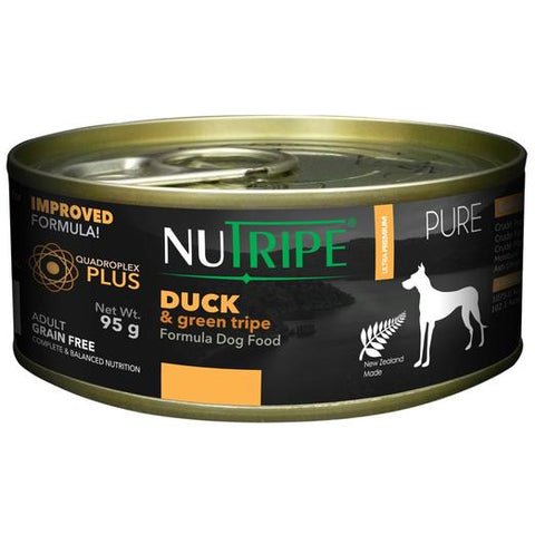 NUTRIPE Pure Duck & Green Tripe Formula Dog Food (95g)