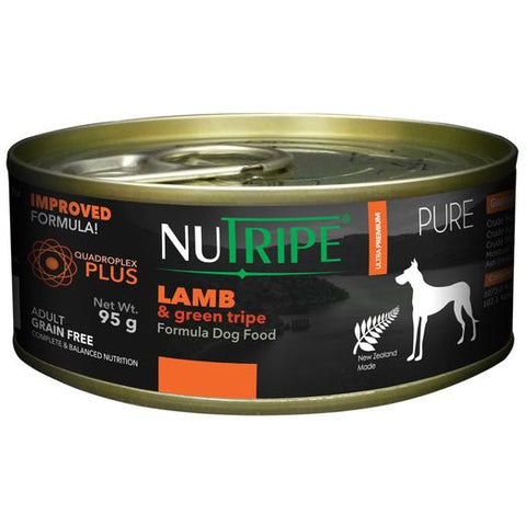 NUTRIPE Pure Lamb & Green Tripe Formula Dog Food (95g)