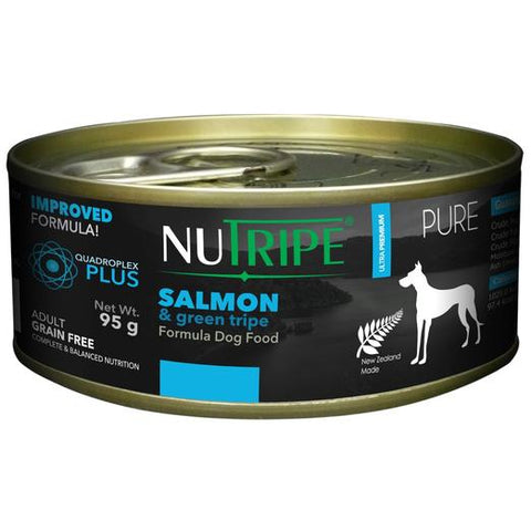 NUTRIPE Pure Salmon & Green Tripe Formula Dog Food (95g)