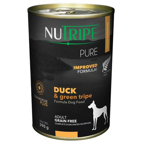 NUTRIPE Pure Duck & Green Tripe Formula Dog Food (390g)