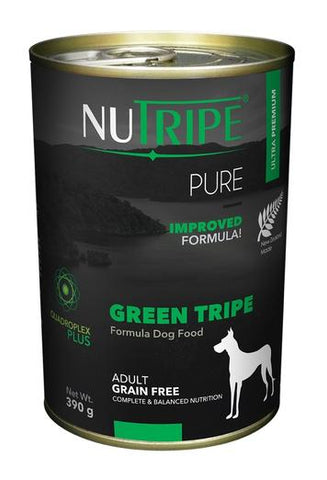 NUTRIPE Pure Green Tripe Formula Dog Food (390g)