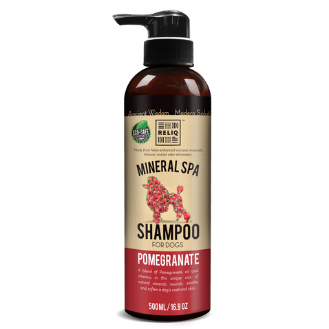 RELIQ Mineral Spa Dog Pomegranate Shampoo (500ml / 1 Gal)