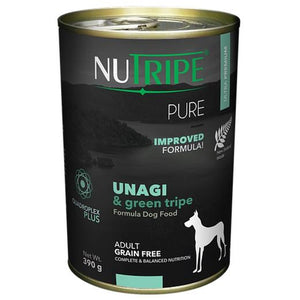 NUTRIPE Pure Unagi & Green Tripe Formula Dog Food (390g)