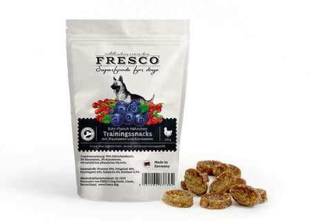 Fresco Training Mini Bones - Chicken with Blueberries, Cranberries (150g)