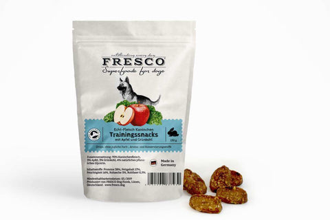 Fresco Training Mini Bones - Rabbit with Apple & Kale (150g)