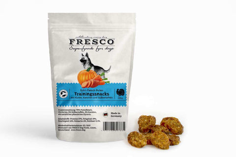 Fresco Training Mini Bones - Turkey with Pumpkins, Carrots & Sweet Potatoes (150g)