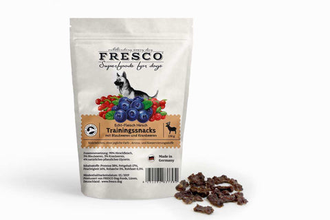 Fresco Training Mini Bones - Venison with Blueberries & Cranberries (150g)