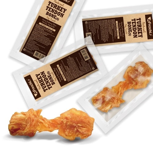 AFreschi Turkey Tendon Bone Dog Treat (S)