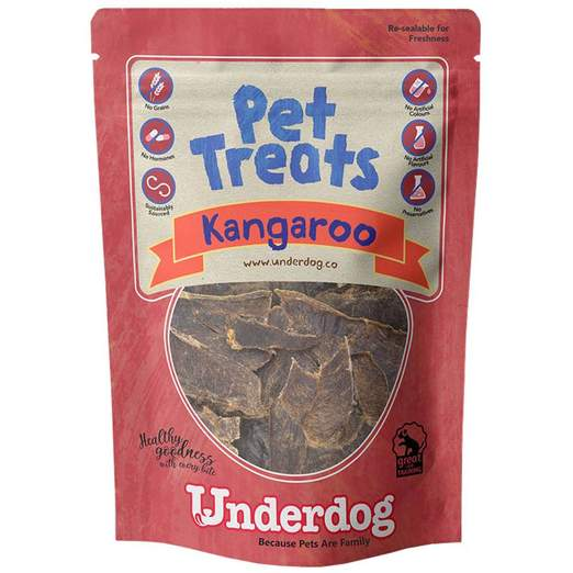 Underdog Air Dried Kangaroo Dog Treats (60g)