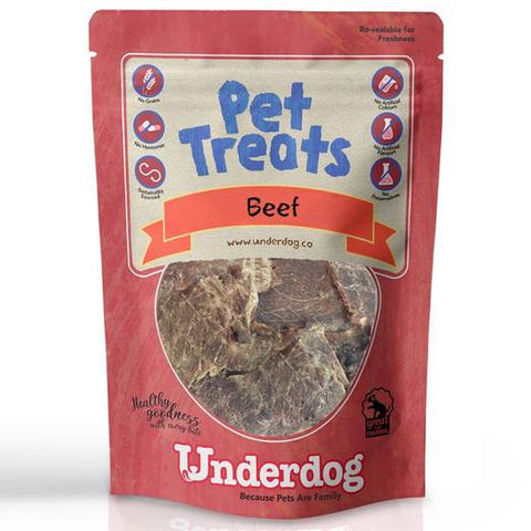 Underdog Air Dried Beef Dog Treats (80g)