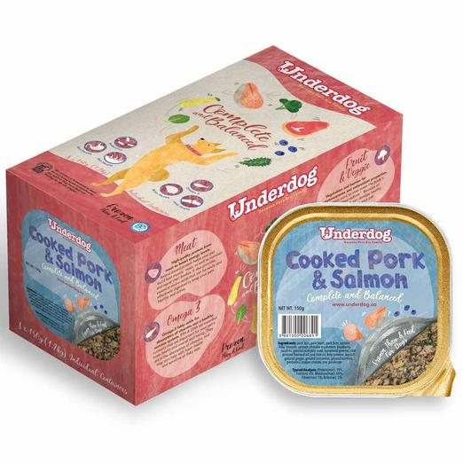 Underdog Cooked Pork & Salmon Complete & Balanced Frozen Dog Food (150g)